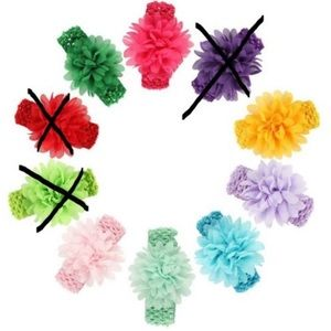 Easter baby girl headband! Hair flower hair tie